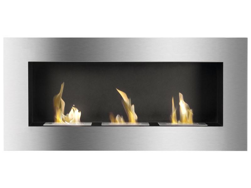Ignis Optimum Wall Mounted Recessed 60 in Ventless Ethanol Fireplace