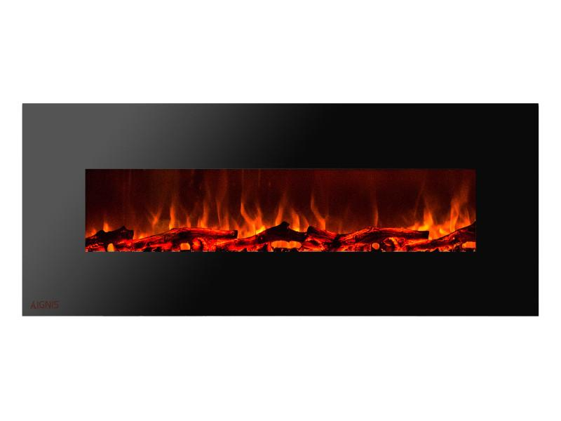 Ignis Royal Wall Mount 72 inch Electric Fireplace with Logs
