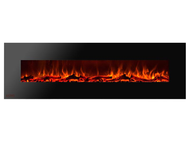 Ignis Royal 95 in Wall Mount Electric Fireplace with Logs