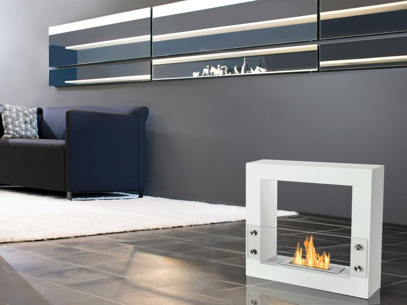 Ignis Tectum Mini Freestanding Ventless Ethanol Fireplace The
