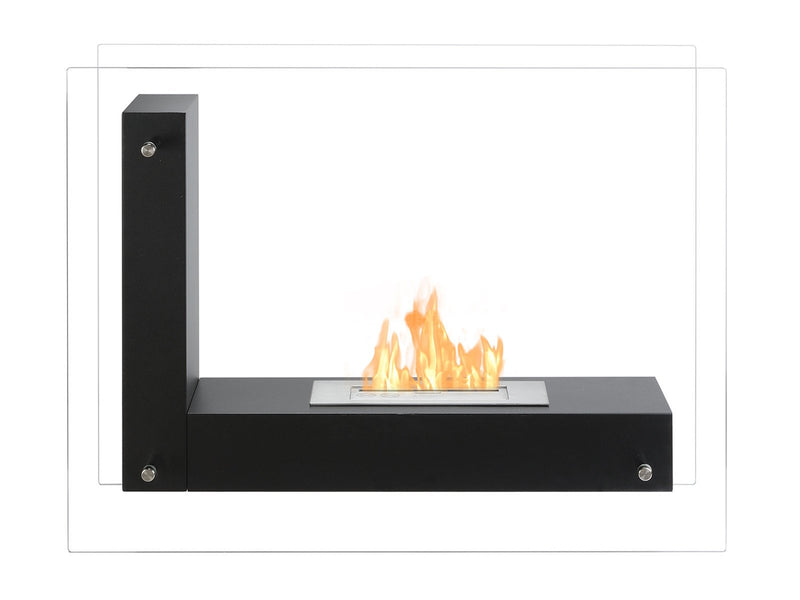 Ignis Vitrum L Freestanding Ventless Ethanol Fireplace