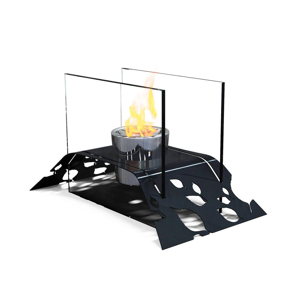 DecorPro Leaf Bio Ethanol Indoor Outdoor Table-Top Fireplace