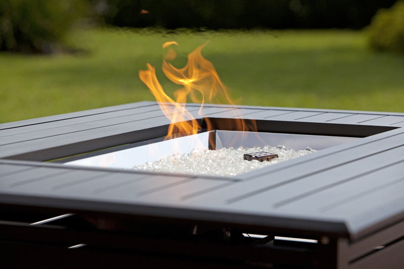 Longmont Extruded Aluminum Rectangular LPG Fire Pit
