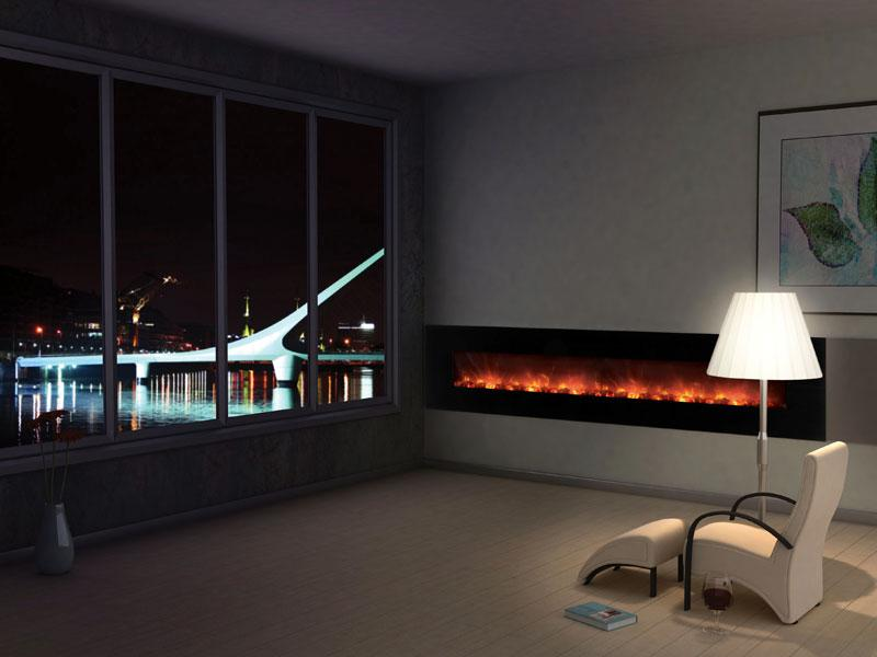 Modern Flames Ambiance CLX2 100 inch Electric Fireplace Orange Living2