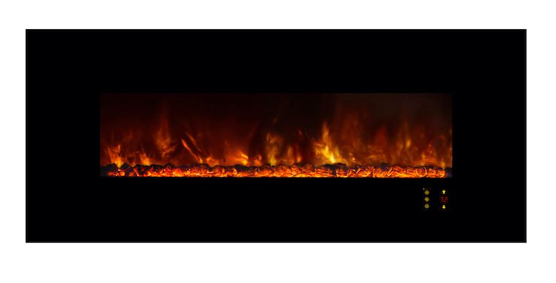 Modern Flames Ambiance CLX2 60 inch Electric Fireplace Orange Flames Coals