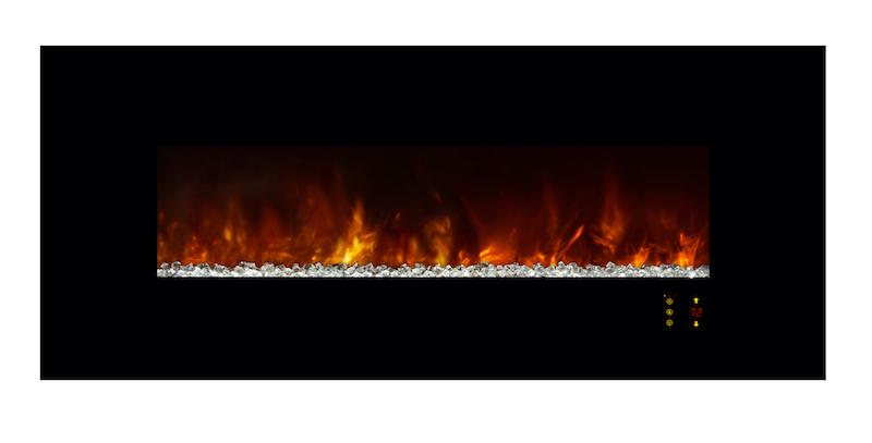 Modern Flames Ambiance CLX2 60 inch Electric Fireplace Orange Flames Glass