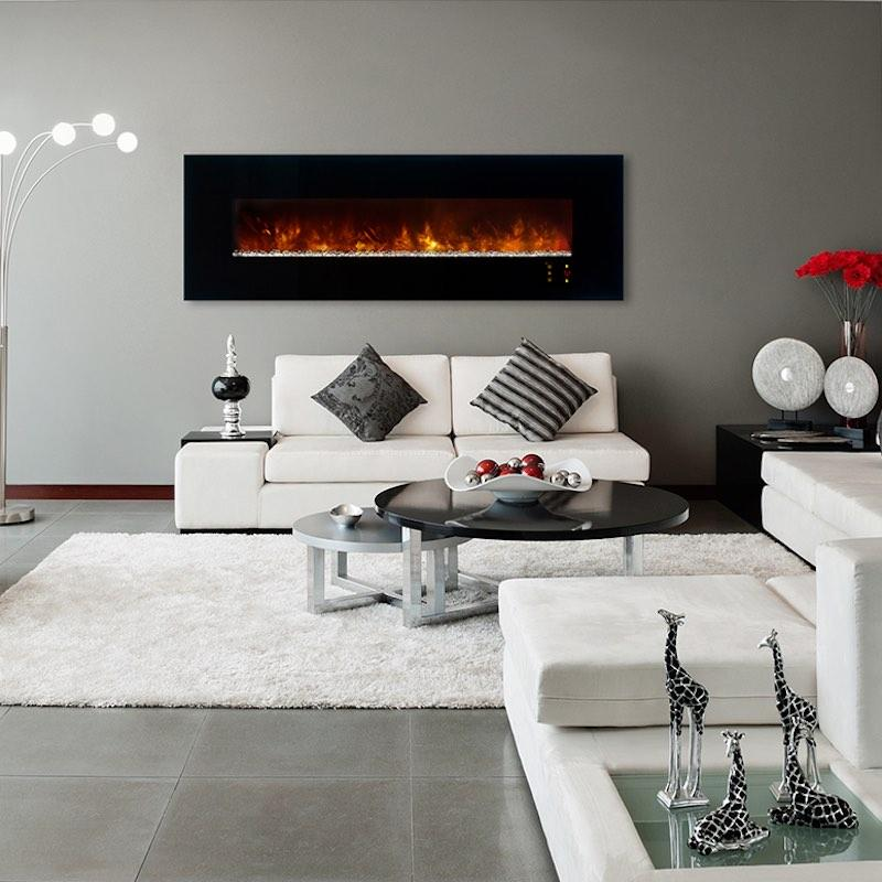 Modern Flames Ambiance CLX2 80 inch Electric Fireplace Orange Living