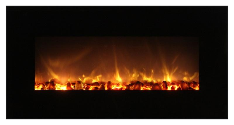 Modern Flames Fantastic Flame 43 inch Built-in or Wall-Mount No Heat Electric Fireplace