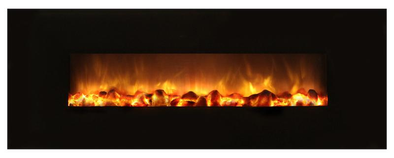 Modern Flames Slim Fire 40 inch Built-In or Wall-Mount No Heat Electric Fireplace