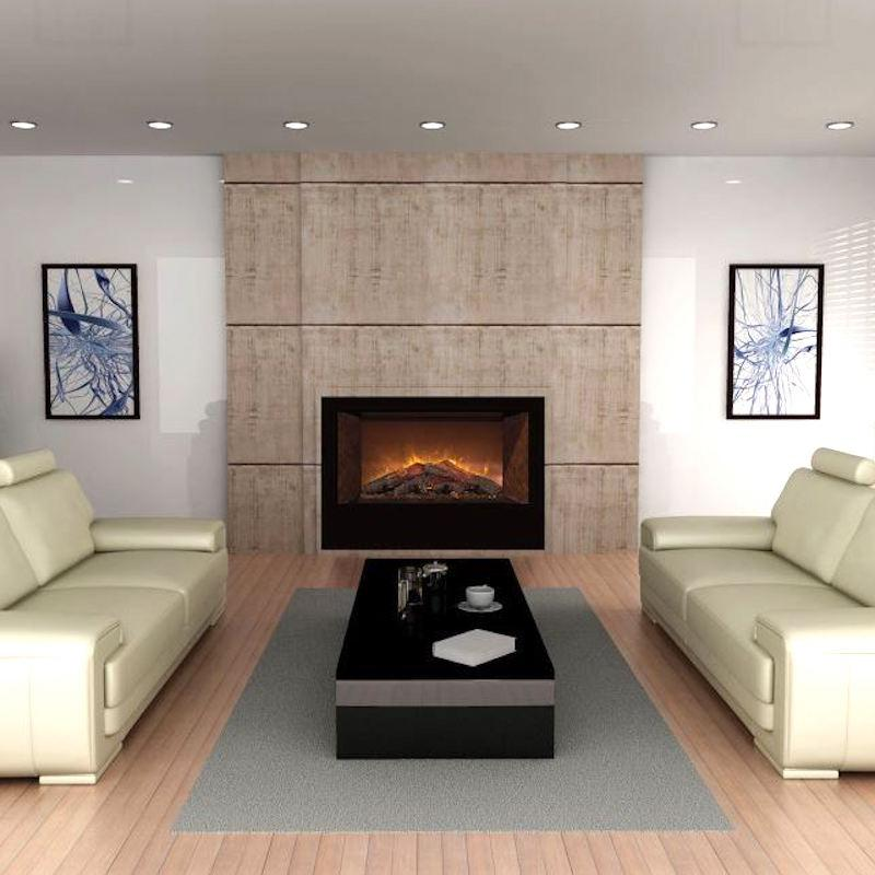 Modern Flames Home Fire 42 inch Built-In, Recessed Flush-Mount Electric Fireplace