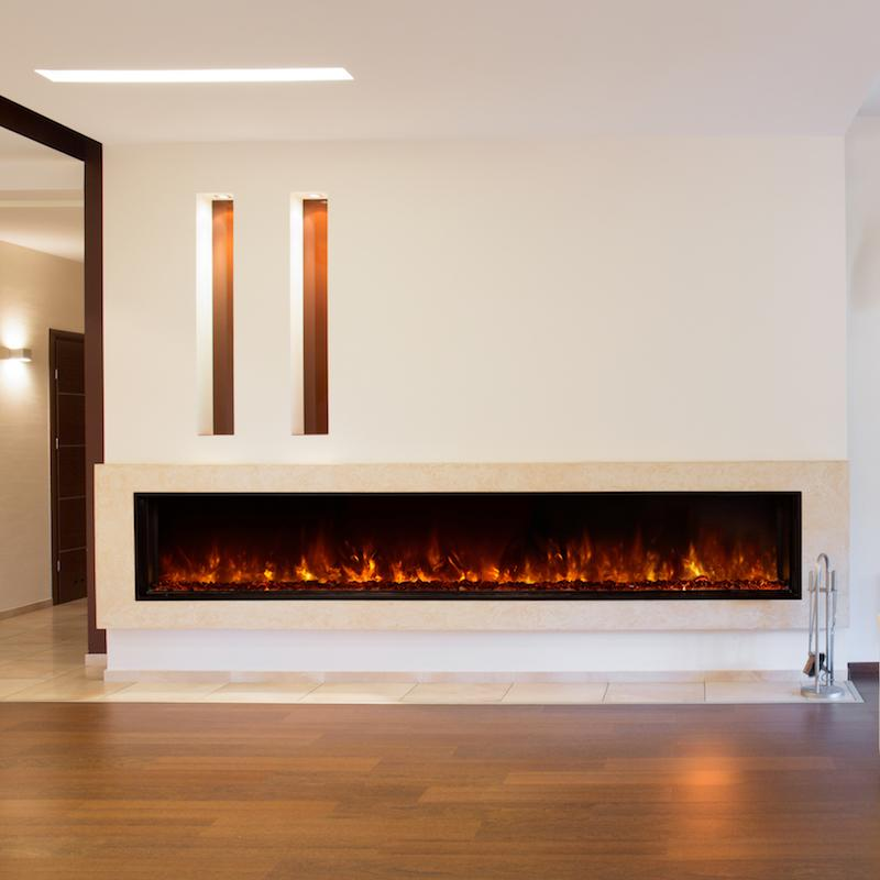 Modern Flames Landscape FullView 100 inch Built-In Recessed Flush Mount Electric Fireplace Living2