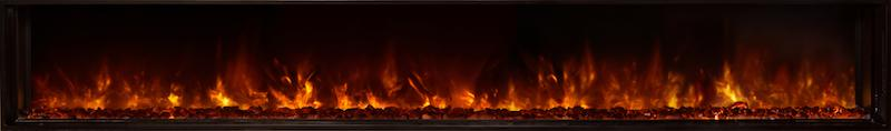 Modern Flames Landscape FullView 100 inch Built In Recessed Flush Mount Electric Fireplace