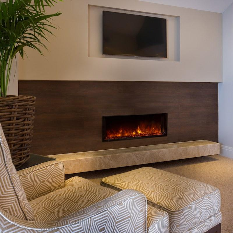 Modern Flames Landscape FullView 40 inch Built In Recessed Flush Mount Electric Fireplace Living