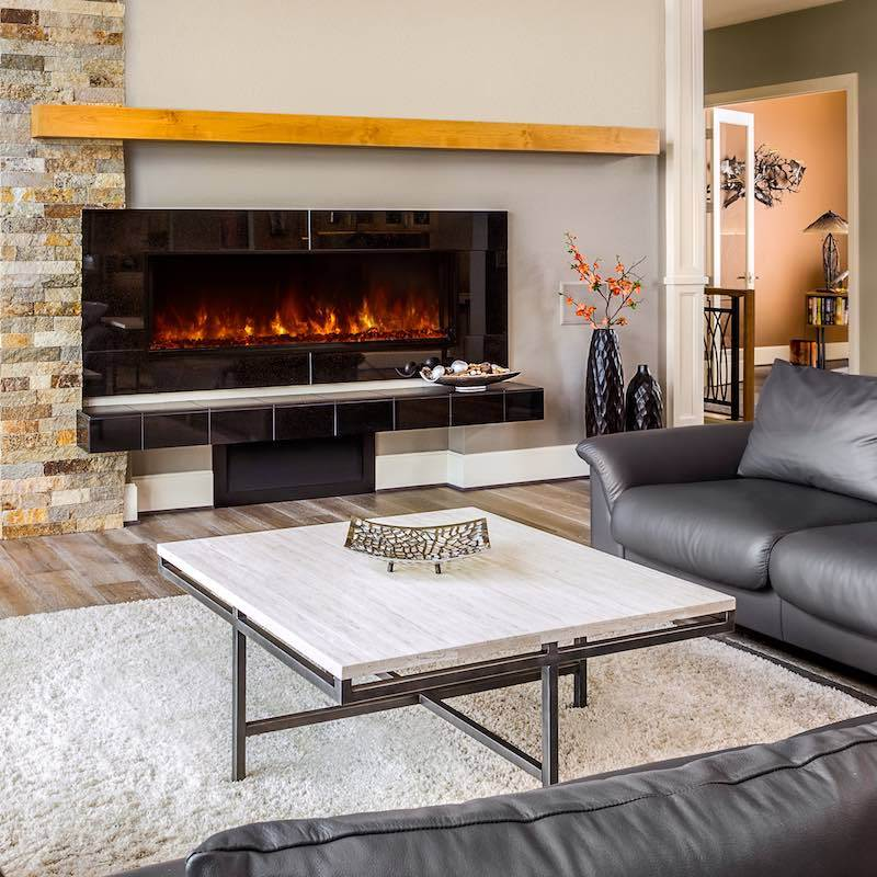 Modern Flames Landscape FullView 60 inch Built In Recessed Flush Mount Electric Fireplace Living1