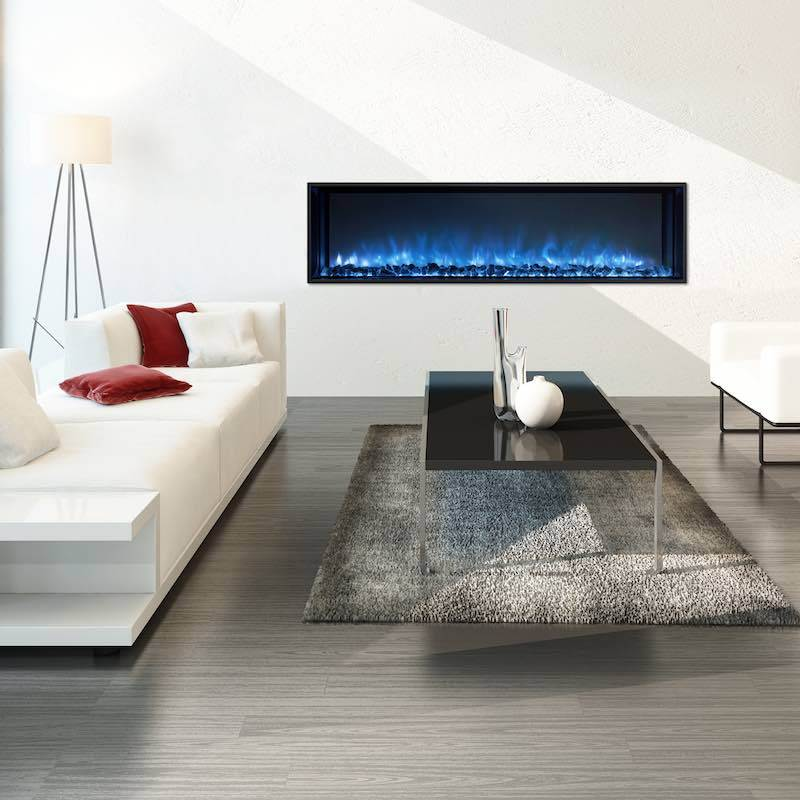 Modern Flames Landscape FullView 60 inch Built In Recessed Flush Mount Electric Fireplace Modern