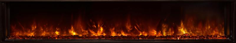 Modern Flames Landscape FullView 80 inch Built-In Recessed Flush Mount Electric Fireplace