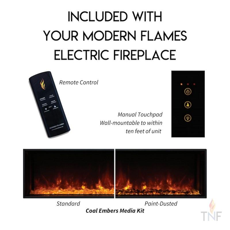 Modern Flames Landscape FullView Built-In Electric Fireplace Included Accessories
