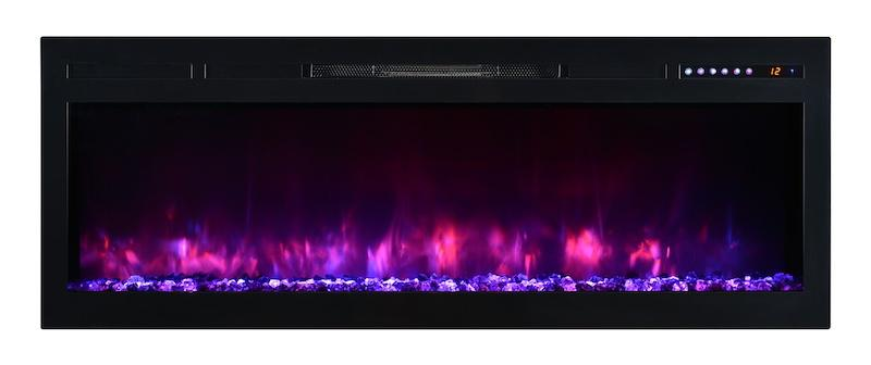 Modern Flames Spectrum 74 inch Built-In, Recessed Flush-Mount Electric Fireplace