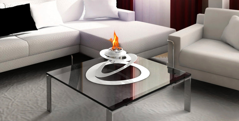 DecorPro Ovia Bio Ethanol Table-Top Fireplace