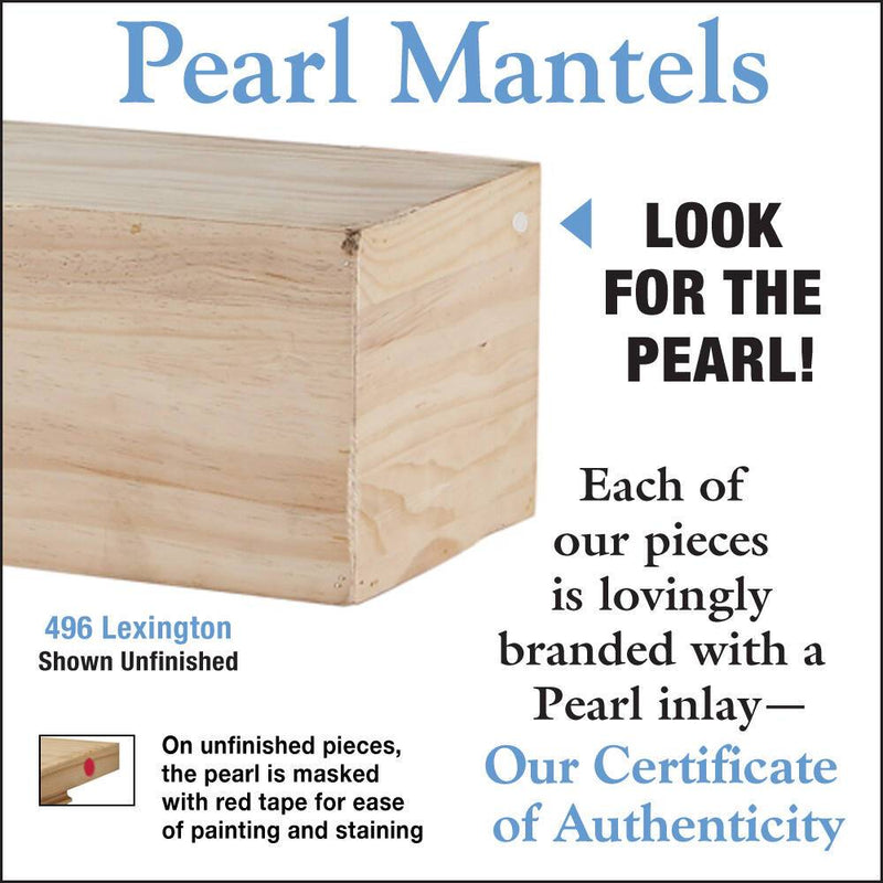 Pearl Mantels Lexington Rustic Wood Mantel Shelf Unfinished detail