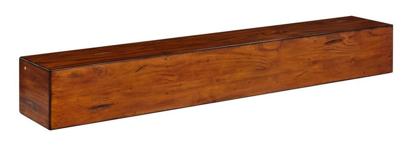 Pearl Mantel Lexington Wood Mantel Shelf in Medium Rustic Distressed Finish angle
