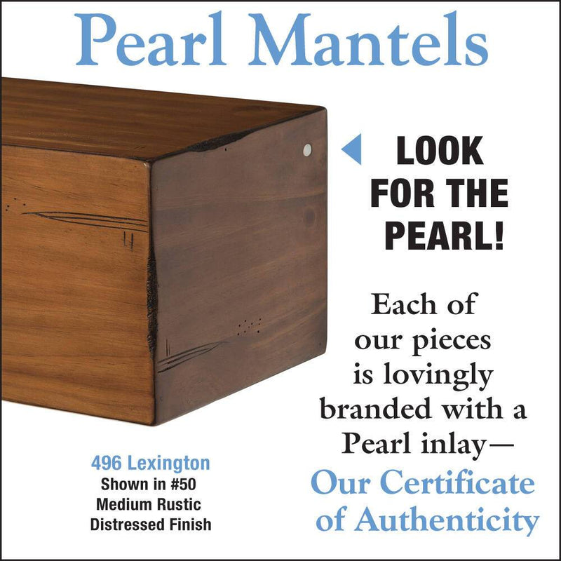 Pearl Mantel Lexington Wood Mantel Shelf in Medium Rustic Distressed Finish detail