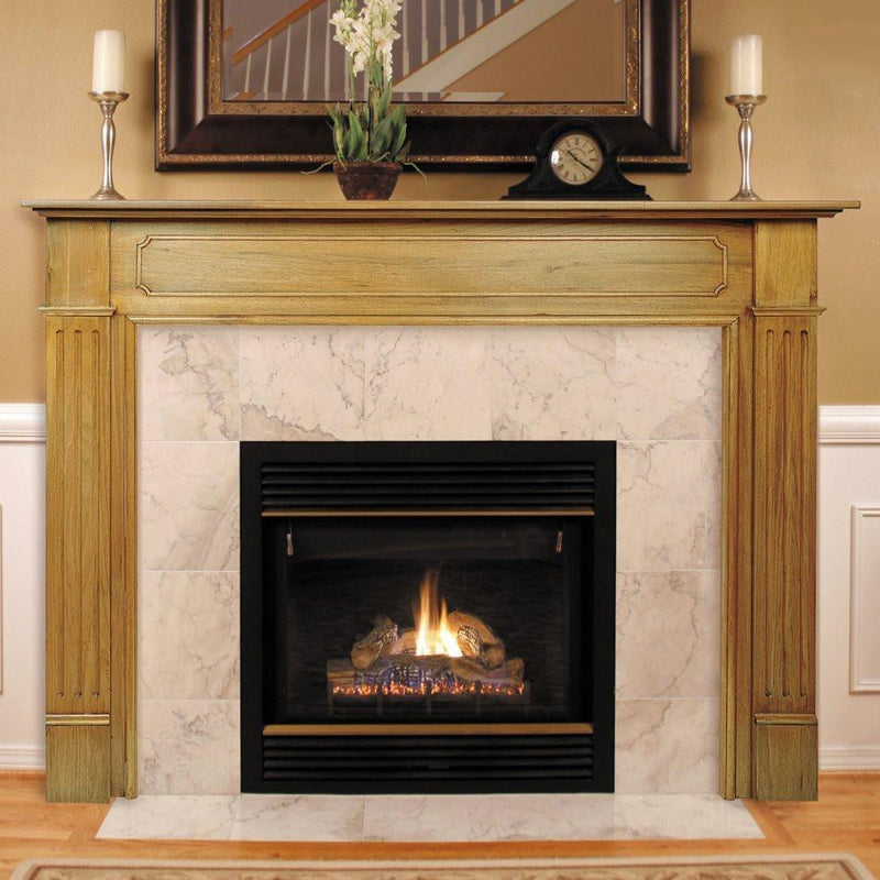 Pearl Mantels Williamsburg Wood Fireplace Mantel Surround finished