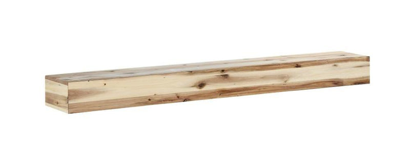 Pearl Mantels Acacia Wood Mantel Shelf Natural angle right