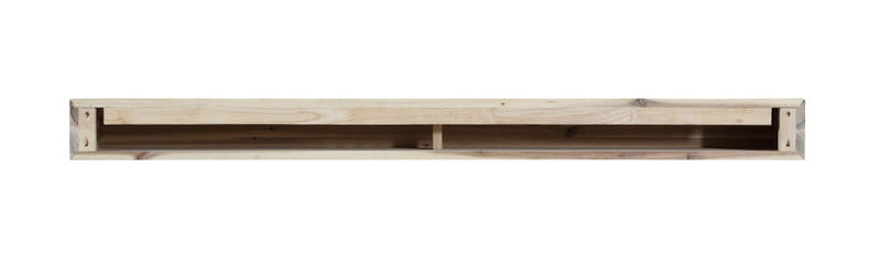 Pearl Mantels Acacia Wood Mantel Shelf Natural back