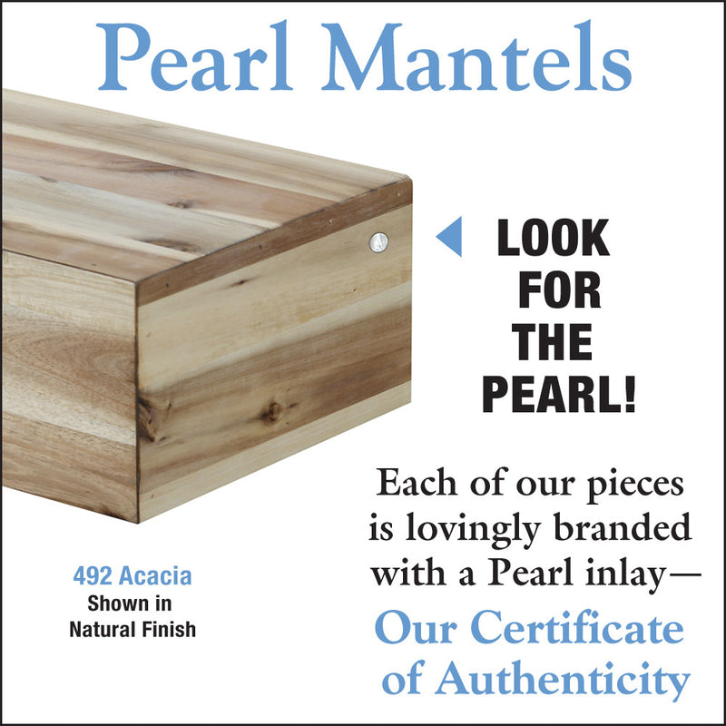 Pearl Mantels Acacia Wood Mantel Shelf Natural detail