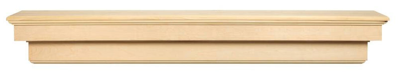 Pearl Mantels Auburn Wood Fireplace Mantel Shelf Unfinished floating shelf