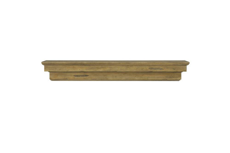 Pearl Mantels Celeste Wood Fireplace Mantle Shelf in Dune Distressed Finish floating shelf