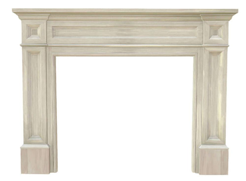 Pearl Mantels Classique Wood Fireplace Mantel Surround Unfinished - The Noble Flame