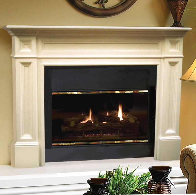 Pearl Mantels Classique Wood Fireplace Mantel Surround finished
