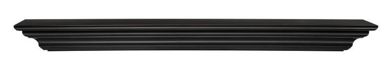 Pearl Mantels Crestwood Fireplace Mantel Shelf in Black Paint 2