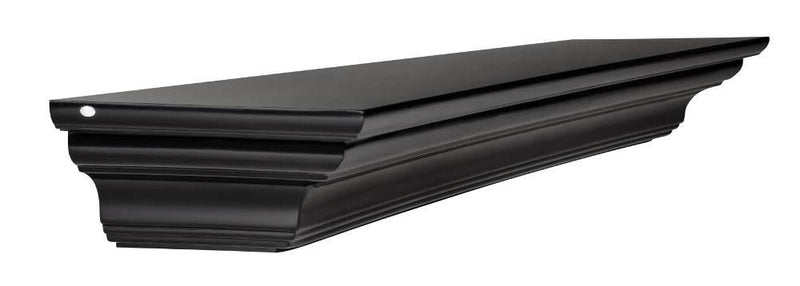 Pearl Mantels Crestwood Fireplace Mantel Shelf in Black Paint angle