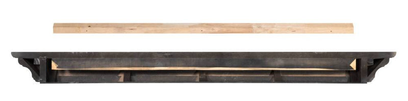 Pearl Mantels Crestwood Fireplace Mantel Shelf in Black Paint back