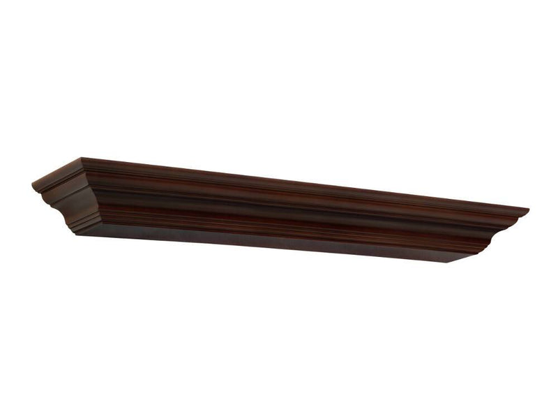 Pearl Mantels Crestwood Fireplace Mantel Shelf in Chocolate Brown Paint angle