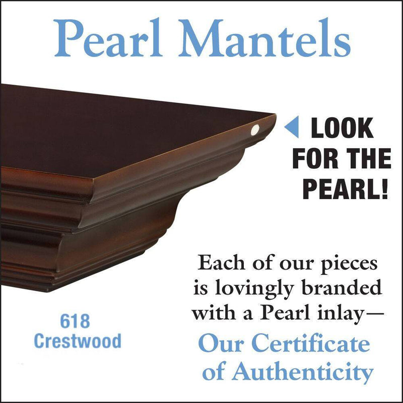 Pearl Mantels Crestwood Fireplace Mantel Shelf in Chocolate Brown Paint detail
