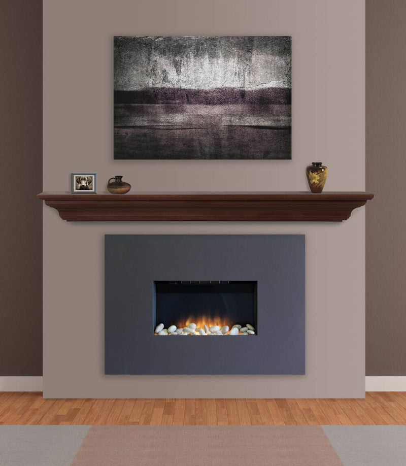 Pearl Mantels Crestwood Fireplace Mantel Shelf in Chocolate Brown Paint