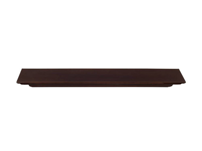Pearl Mantels Crestwood Fireplace Mantel Shelf in Chocolate Brown Paint top