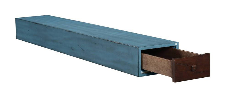 Pearl Mantels Dakota Wood Fireplace Mantel Shelf in Riviera Distressed Finish angle