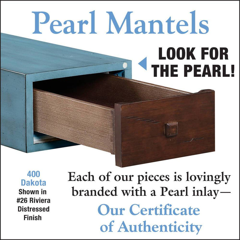 Pearl Mantels Dakota Wood Fireplace Mantel Shelf in Riviera Distressed Finish detail