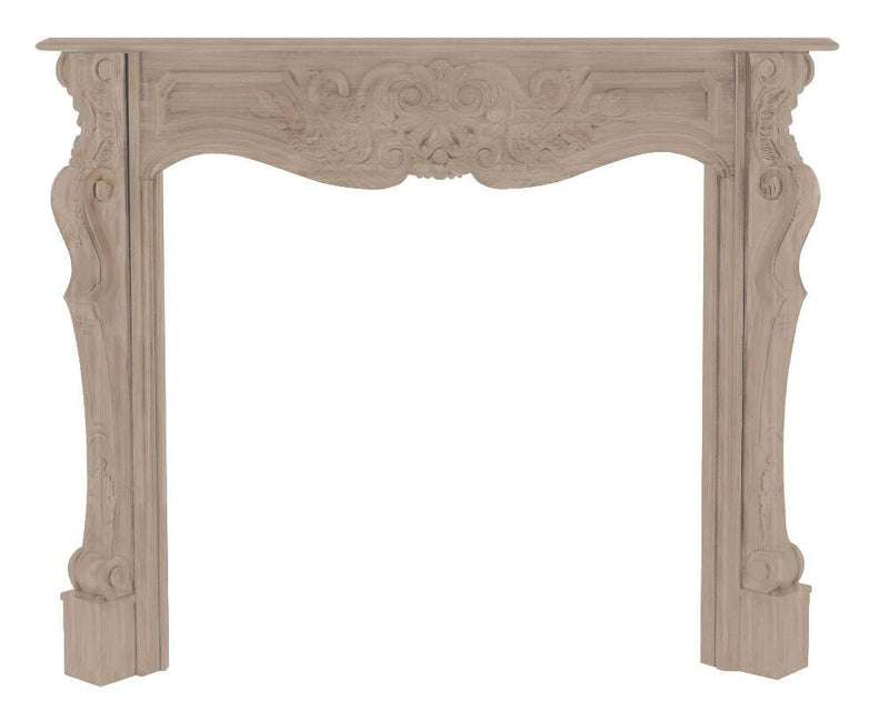 Pearl Mantels Deauville Wood Fireplace Mantel Surround Unfinished