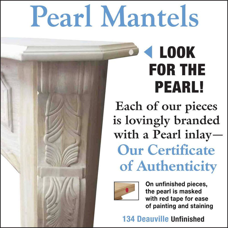 Pearl Mantels Deauville Wood Fireplace Mantel Surround Unfinished detail