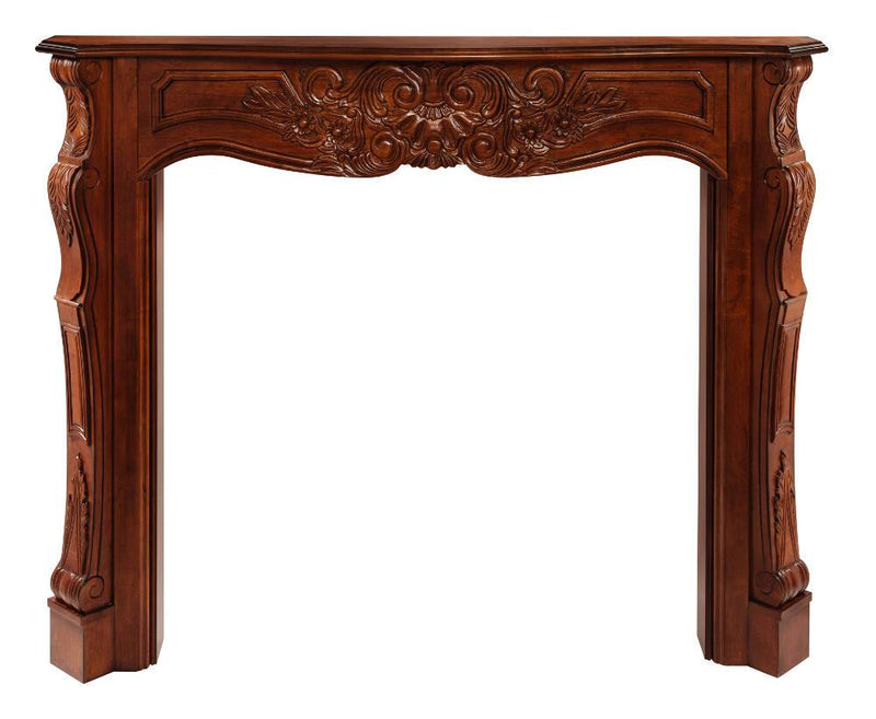 Pearl Mantels Deauville Wood Fireplace Mantel Surround in Fruitwood Finish 2