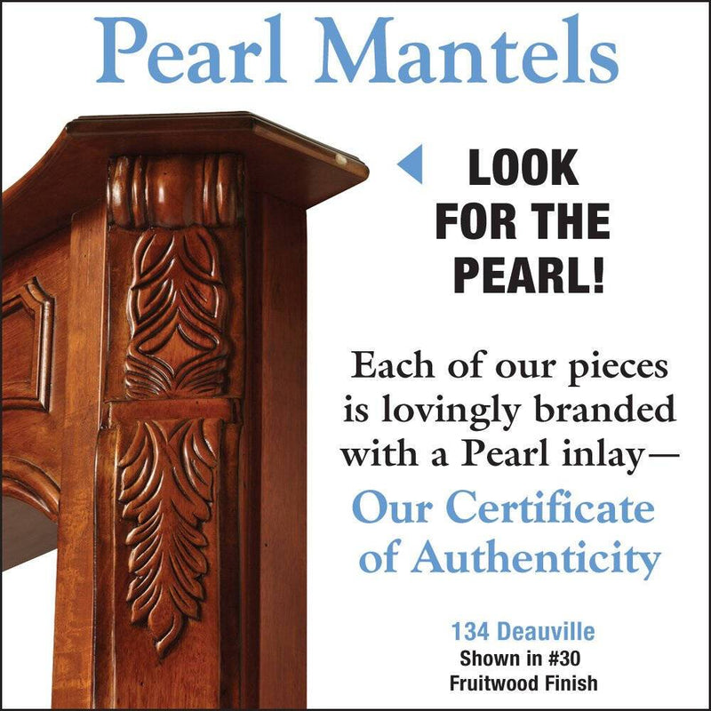 Pearl Mantels Deauville Wood Fireplace Mantel Surround in Fruitwood Finish detail