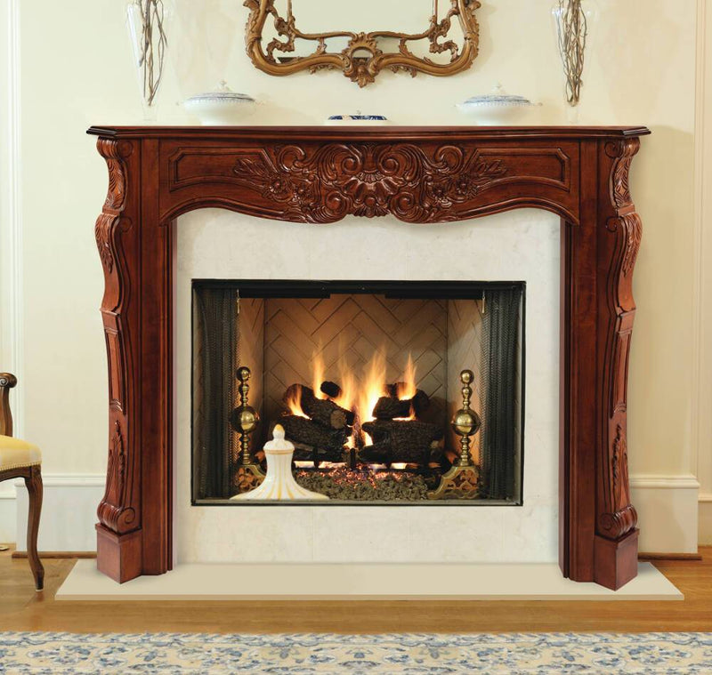 Pearl Mantels Deauville Wood Fireplace Mantel Surround in Fruitwood Finish