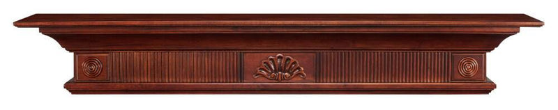 Pearl Mantels Devonshire Wood Fireplace Mantel Shelf in Cherry Distressed Finish floating