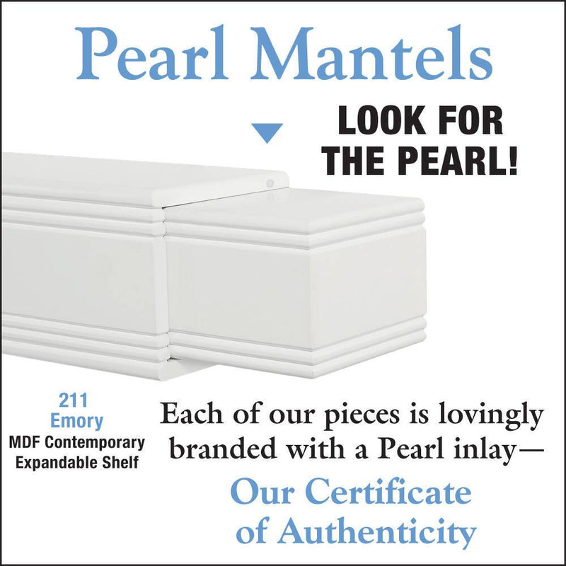 Pearl Mantels Emory Adjustable Fireplace Mantel Shelf detail